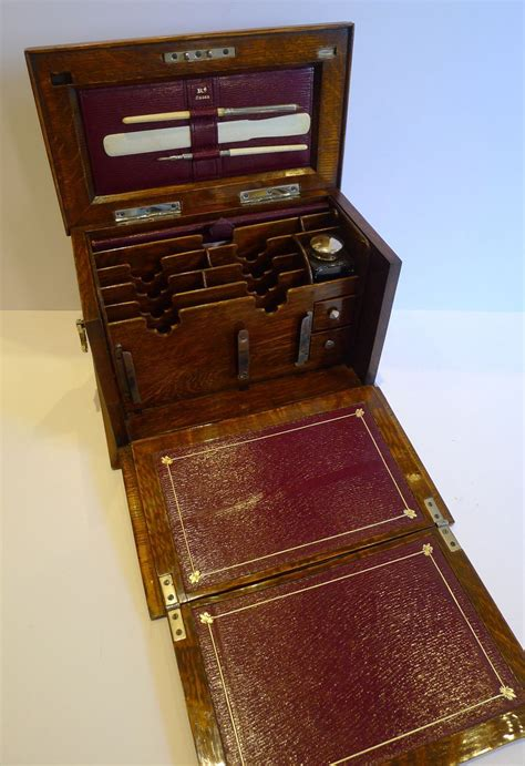 small antique english stationery cabinet writing box