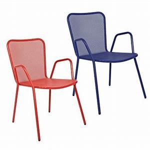Chaise De Jardin Metal : chaise de jardin bedelia habitat marie claire maison ~ Dailycaller-alerts.com Idées de Décoration