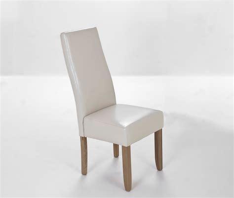 beliani chaise de salle 224 manger en cuir empire beige fr