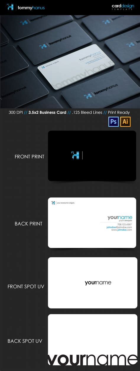 front and back business card template illustrator 15 premium business card templates in photoshop