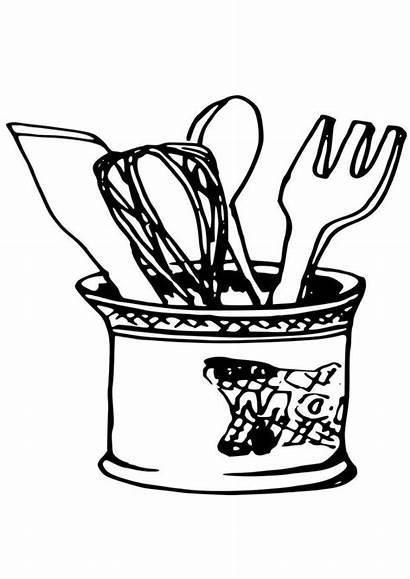 Kitchen Coloring Utensils