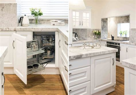 white corner cabinet for kitchen 10 corner cabinet ideas that optimize your kitchen space 1759