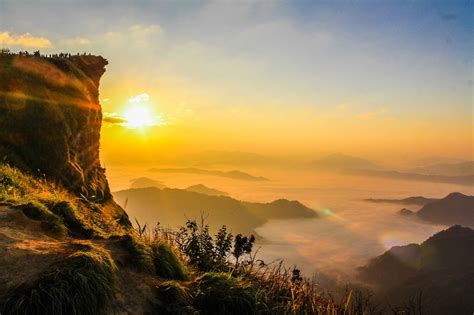 wallpaper gambar sunset  gunung hd gambar indah