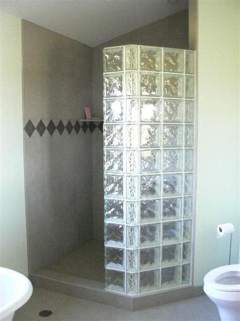 shower stall  glass blocks