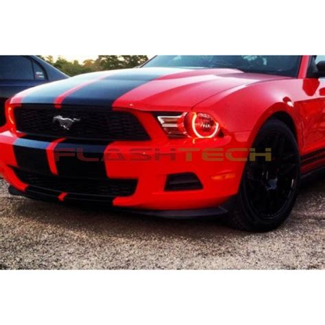ford mustang non projector v 3 color change led halo