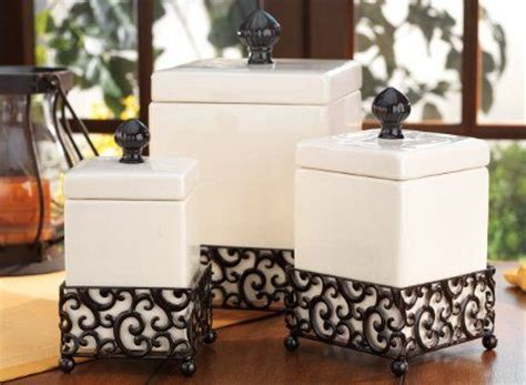 amazoncom set   attractive ceramic canisters