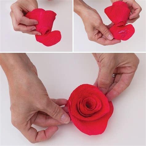 Rose di carta crespa Fiori di carta Carta crespa rose