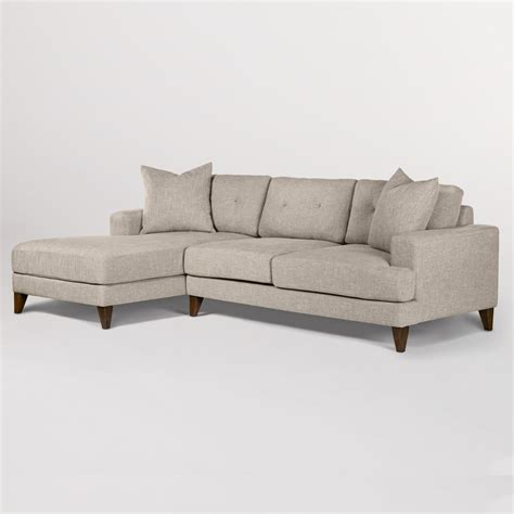 sidney sectional left facing chaise laf alder