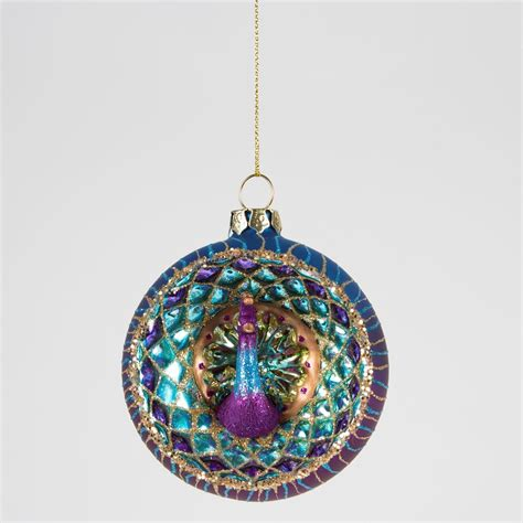 luxury glass birds christmas tree hanging decorations