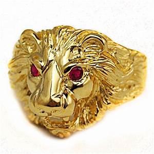 Chevaliere Homme Or 24 Carats : bague chevali re t te de lion or 9 carats ~ Melissatoandfro.com Idées de Décoration