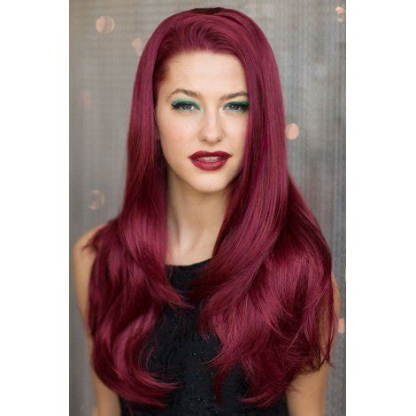 red bouncy  wig hairpiece extension  wig