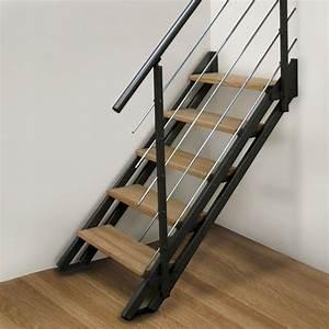 Hauteur Marche Escalier Extérieur : les escaliers double limons escaliers contemporains comptoir des bois ~ Farleysfitness.com Idées de Décoration