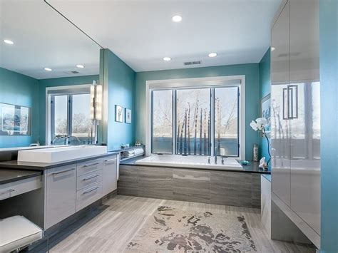 cool blue master bathroom designs  ideas pictures
