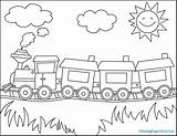 Coloring Train Wagon Simple Printable Getcolorings sketch template