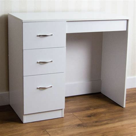 Bedroom Desk Storage by Riano 3 Drawer Dressing Table White Makeup Desk Wooden
