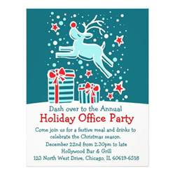 graphic reindeer bright office party flyer letterhead zazzle