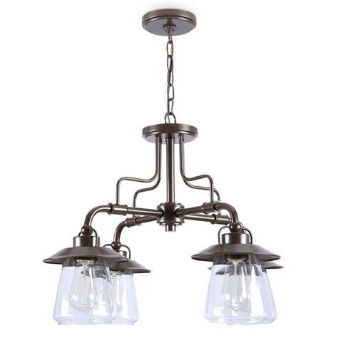 allen roth 4 light chandelier shop allen roth bristow 4 light specialty bronze
