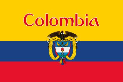 Colombia name Flag available to buy - Flagsok.com