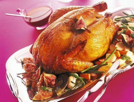 cuisiner le coq recette de chapon rôti aux figues pour le réveillon