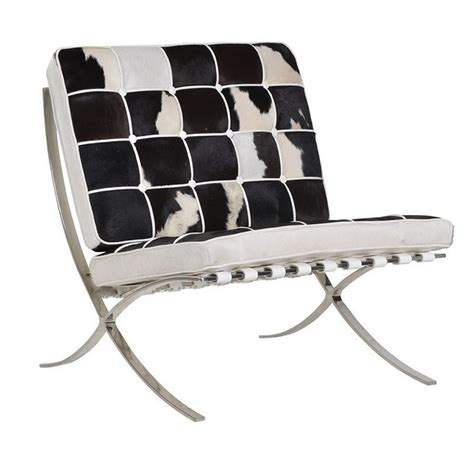 Cowhide Barcelona Chair by 1000 Images About Cowhide Leather Mock Croc Furniture