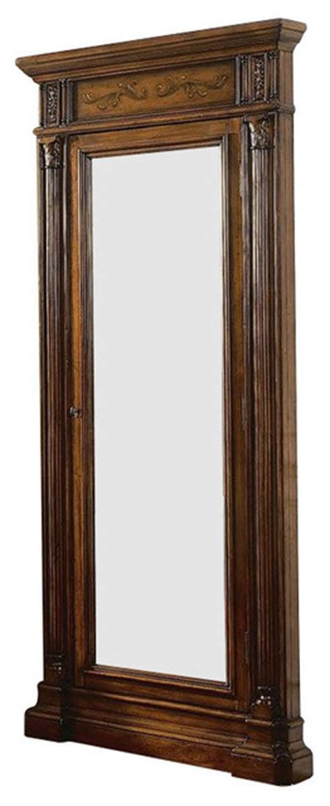 floor mirror jewelry cabinet hooker furniture seven seas floor mirror with jewelry armoire storage 500 50 558 furniture