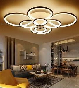 Remote, Control, Living, Room, Bedroom, Modern, Ceiling, Lights, Dimming, Led, Lighting