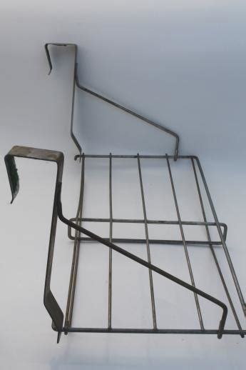 vintage industrial wire rack hat shelf   door hanging shelf coat rack