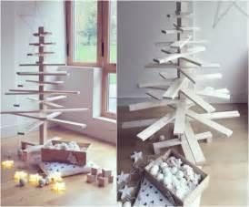 sapin noel bois rustique alternatives accueil design et mobilier