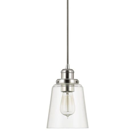 clear silver l cord home decorators collection 1 light polished nickel pendant