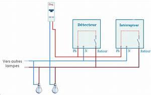 Branchement Detecteur De Mouvement : schema branchement lampe avec detecteur de mouvement ~ Dailycaller-alerts.com Idées de Décoration