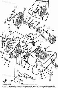 Yamaha Snowmobile 1985 Oem Parts Diagram For Air Shroud