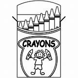Crayons Coloring Clip Box Crayon Abcteach Books Illustration Tree Google sketch template