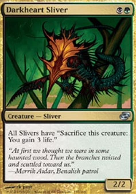 Sliver Edh Deck Build by Darkheart Sliver Plc Mtg Card