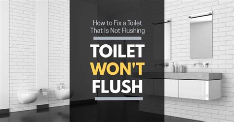 Toilet Won't Flush How To Fix A Toilet That Is Not
