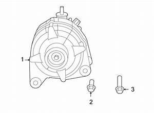 Volkswagen Routan Alternator Bracket Bolt  3 8 Liter  4 0
