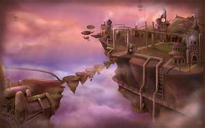 Floating Steampunk City by Jullith on DeviantArt