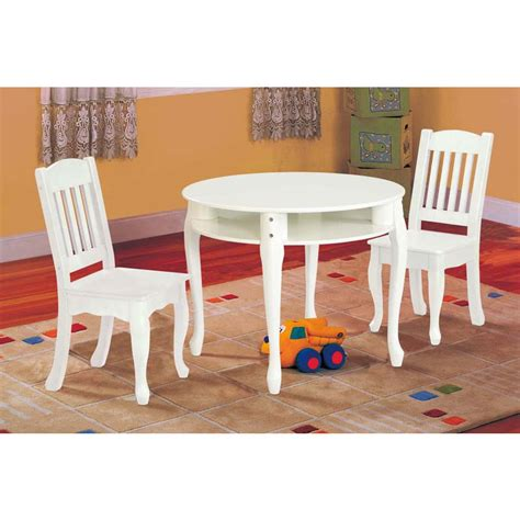 children s table and chair set white baby