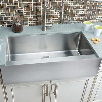 kitchen sink costco hahn chef series large flat front farmhouse sink 2644