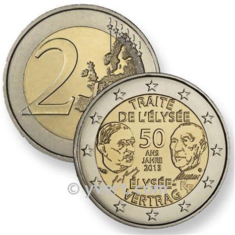 journee collection 2 euros commémoratifs 2013 traite de l elysee