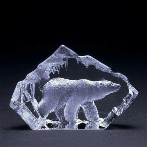miniature polar bear walking  mats jonasson