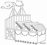 Factory Diwali Coloring Lights Pages Pitara sketch template