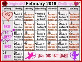 February Workout Challenge Calendar
