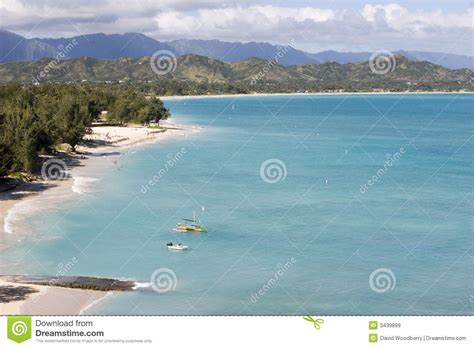 Boating License Oahu by Lanikai Oahu Hawaii Royalty Free Stock Images