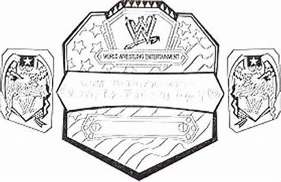 Wwe Coloring Pages Belt Wrestling Championship Title