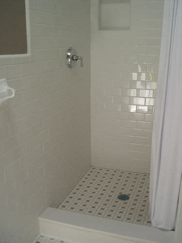 subway tile shower shower stall wc