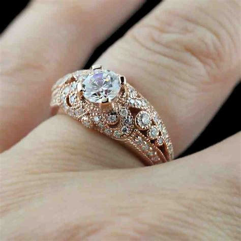 antique rose gold engagement rings wedding and bridal
