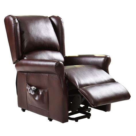 brown electric lift chair recliner with remote