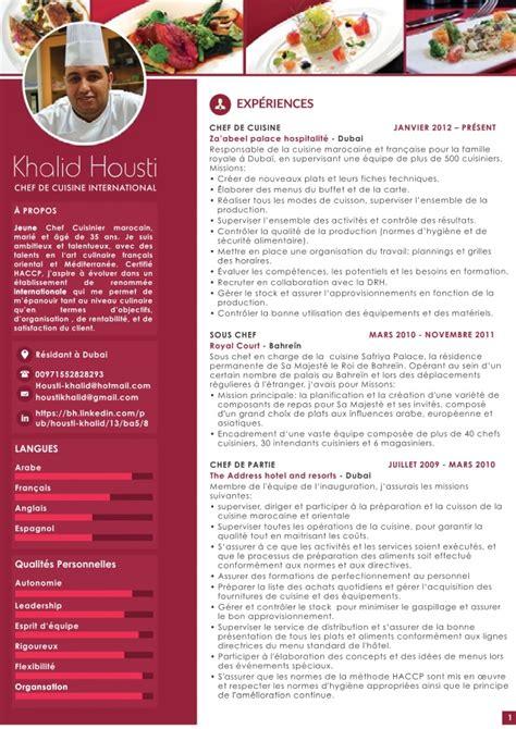 cv cuisine khalid housti cv fr web