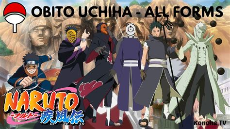 obito uchiha all forms character growth youtube