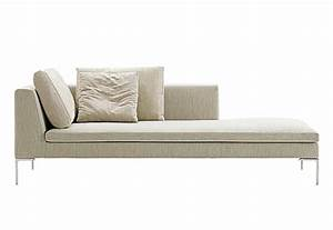 charles chaise longue by bb italia stylepark With canapé chaise longue cuir